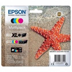 EPSON Multipack cartouches d' encre Etoile de mer 603XL Noir + 603 Cyan/Magenta/Jaune