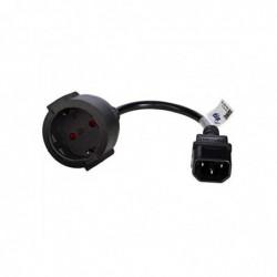 AKYGA Cables électriques (Male Connector/Female Connector, CEE7/4, 250 V, 10 A, Noir)