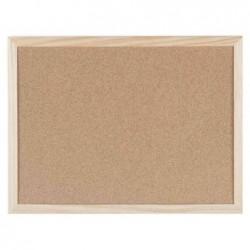 BI-OFFICE Tableau en liège avec cadre en bois, 900 x 600 mm