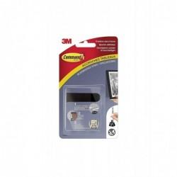 COMMAND Lot 4 Kits de 2 Languettes Accroches Tableaux Taille S 1,8 Kg Noir