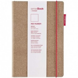 "TRANSOTYPE Carnet de notes ""senseBook RED RUBBER"", Medium,"