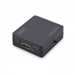 DIGITUS Boîtier HDMI to HDMI/3.5mm/Toslink Convertisseur Audio 4K