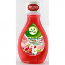 AIR WICK Désodorisant Mèche Active Framboisier en Fleur Flacon de 375 ml