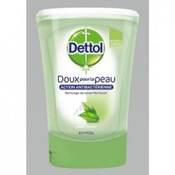 DETTOL Pack No Touch Recharges Savon Liquide - Parfum Thé Vert - Action Antibactérienne - 3x250ml