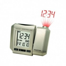 TECHNOLINE WT 535 Réveil Radio Piloté à Projection Argent