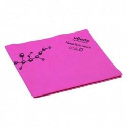 VILEDA Lot de 5 Lavettes NanoTech Micro Microfibre 40 x 38 cm Rouge