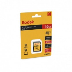KODAK Carte mémoire SDHC 16Go CL10 UHS-I 85MB/s