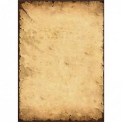 """SIGEL Etui de 50 Feuilles Papier Design 21 x 29,7 cm 90g Vieux parchemin Beige et marron """"History"""""""
