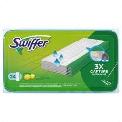 SWIFFER Pacquet de 24 lingettes nettoyantes, recharge