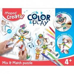 MAPED Creativ COLOR & PLAY Kit créatif Mix & Match puzzle
