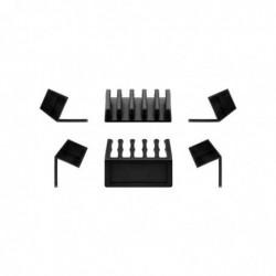 GOOBAY Lot de 2 Pièces Dispositif pour ranger et attacher les câbles à cinq fentes Noir