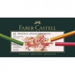 FABER-CASTELL Craies pastels POLYCHROMOS, étui de 12