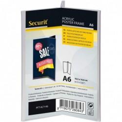 SECURIT Ardoise de table ACRYLIC, A6 portrait, trilatéral