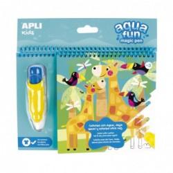 APLI Livre de coloriage à l'eau  + 1 stylo magique