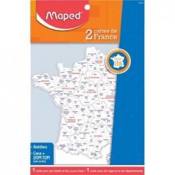 MAPED Gabarit carte de France, contenu: 2 pièces