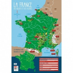"""BOUCHUT Poster pédagogique """"Reliefs & Fleuves de France"""" 52 x 76 cm"""