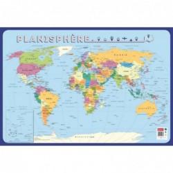 """BOUCHUT Poster pédagogique """"Planisphère"""" 52 x 76 cm"""