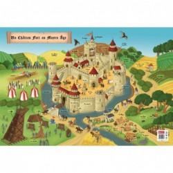 """BOUCHUT Poster pédagogique """"Moyen-Age"""" 52 x 76 cm"""