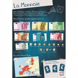 """BOUCHUT Poster pédagogique """"Monnaie"""" 52 x 76 cm"""