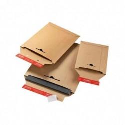 COLOMPAC Pqt de 20 Pochettes d'expédition Carton A4+ 24,5 x 34,5 cm H 3cm Marron