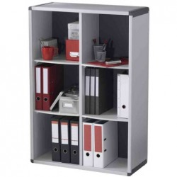 PAPERFLOW Bibliotheque modulable 6 cases gris/anthracite
