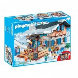 PLAYMOBIL Boîte 9280 : Family cabane de ski