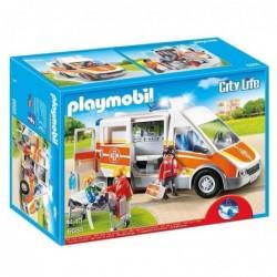 PLAYMOBIL Boîte 6685 : City life ambulance avec son et lumière