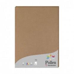 POLLEN Pqt de 25 Feuilles A4 Kraft 200g Pollen