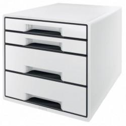 LEITZ Bloc de classement Leitz WOW, 4 tiroirs, blanc