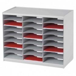 PAPERFLOW Trieur monobloc, 24 compartiments, gris