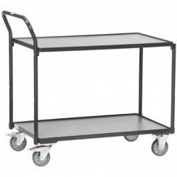 FETRA Servante, 2 plateaux, 300 kg, (L)850 x (P)500 mm, gris