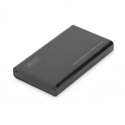 DIGITUS Boîtier Externe SSD Aluminium USB 3.0 - mSATA M50 (50*30*4mm)
