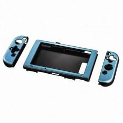 HAMA Coque Dure pour Nintendo Switch ( console et Joy Cons) Bleu métallisé
