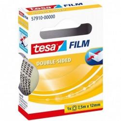 TESA Ruban adhésif double face, transparent, 12 mm x 7,5 m