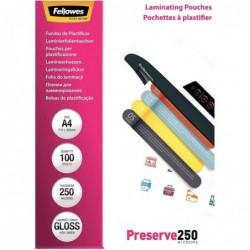 FELLOWES Pqt de 100 Pochette à plastifier A4 brillante 500 (2x250) microns