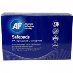 AF Boite de 100 pochettes Safepads individuelles pré-imprégnées alcool isopropylique