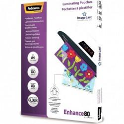 FELLOWES Pack de 100 pochettes Imagelast A480 microns 5306114