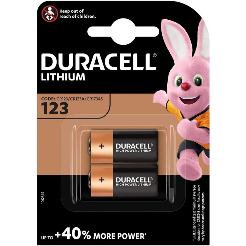 DURACELL Blister de 2 piles photo Lithium 123 A