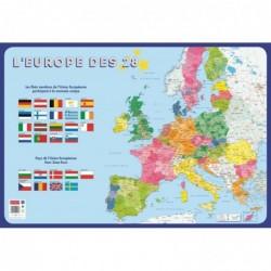 """BOUCHUT Poster pédagogique """"Europe"""" 52 x 76 cm"""