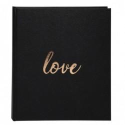 EXACOMPTA Livre d'or 140 pages tranche or - Format 21x19cm - LOVE Blanc Noir