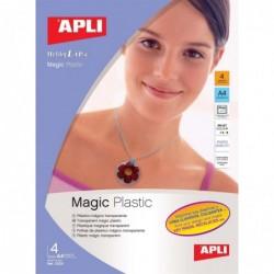 APLI Poch. 4 feuilles de Plastique Magique  210 x 297 mm