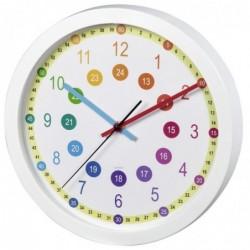 "HAMA Horloge murale pour enfant ""Easy Learning"", diam. 30 cm, silencieuse"