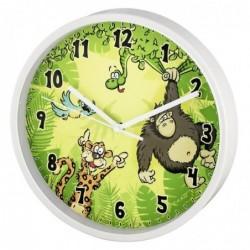 """HAMA Horloge murale pour enfant """"Jungle"""", Ø 22,5 cm, silencieuse"""