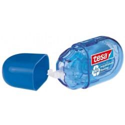 TESA ecoLogo mini ruban correcteur jetable, 5 mm x 6 m, bleu