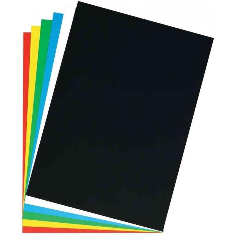 HERLITZ Lot 10 Feuilles de carton pelliculé 1 côté 400g pour affiche 480 x 680 mm Noir
