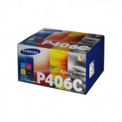 HP Pack de 4 Toner Original cyan, jaune, magenta, noir Samsung CLT-P406C (SU375A)