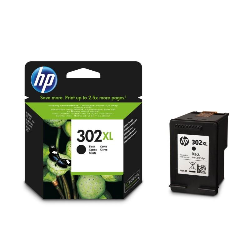 HP Cartouche Jet d'encre N°302XL Noir HP (8,5 ml)
