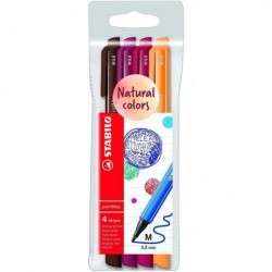 STABILO Pochette 4 stylos-feutres pointMax Edition Nature - nuances VOLCAN