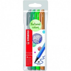STABILO Pochette 4 stylos-feutres pointMax Edition Nature - nuances FORET