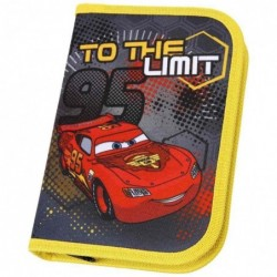"""SCOOLI Etui scolaire """"Cars"""", polyester, gris/"""